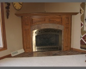 Oak Corner Fireplace
